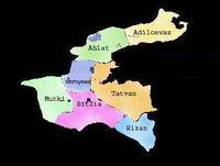 bitlis ilçeleri harita