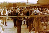 Otwarcie sklepu wielobranżowego w Warzęgowie 1988 r.